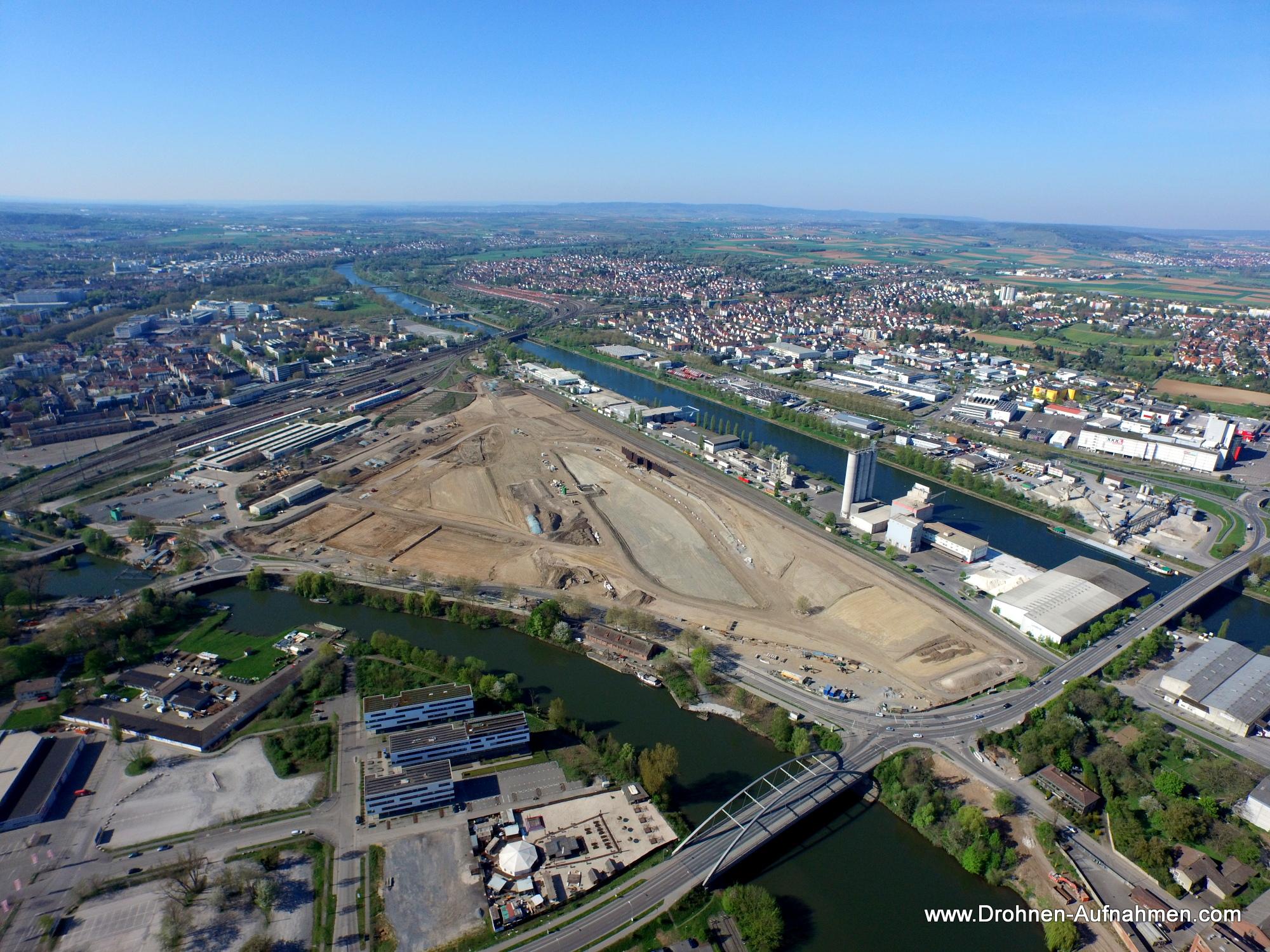 BUGA Heilbronn 2019 - Bundesgartenschau Luftaufnahme im Mai 2015